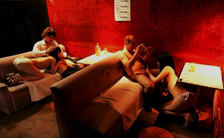 Видео японский минет бар